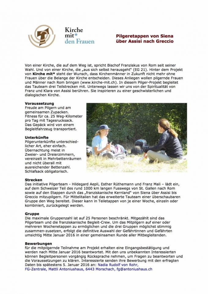 Pilgerprojekt-KircheMit -Ausschreibung1