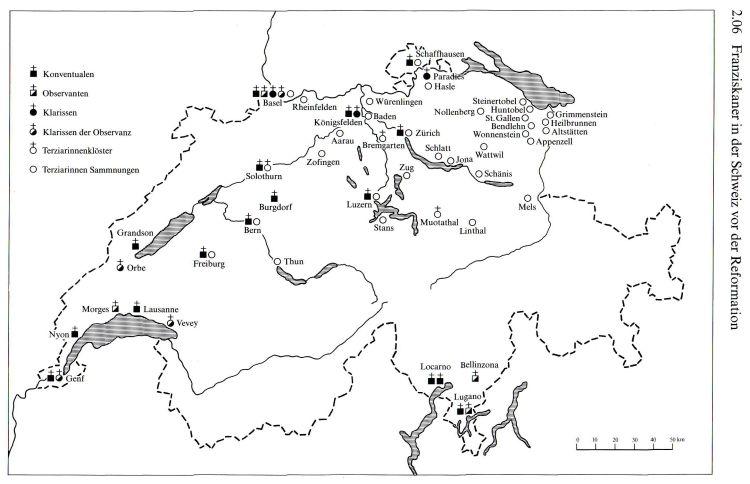 Schweiz Franziskaner vor1500