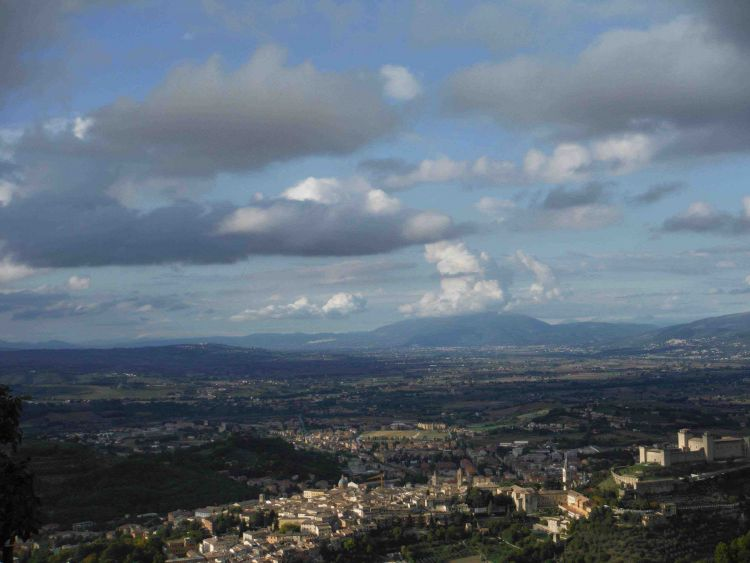 Monteluco Spoletotal Panoramablick